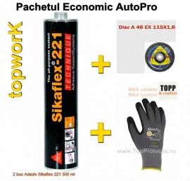 Sikaflex 221 pachet economic pret Promo Adeziv + Disc + Manusi