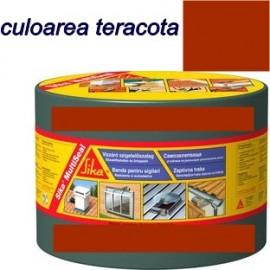 Banda Hidroizolatoare Sika Multiseal culoarea rosu-teracota 30cm X 10 m