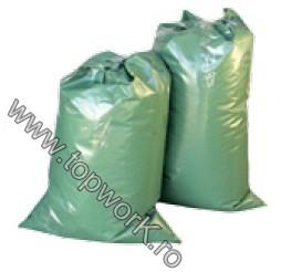 Sac PE verde - saci de plastic