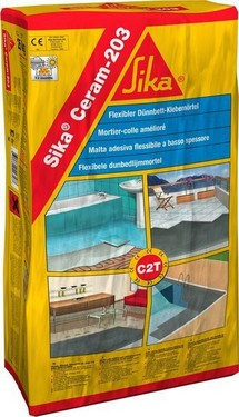 Adeziv de calitate exterior-interior Sika Ceram 205 gri la 25kg
