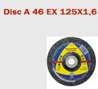 Disc de debitare A 46 Extra 125x1.6 Klingspor
