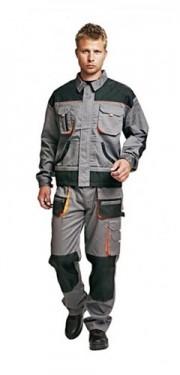 Pantalon de lucru si jacheta gri/portocaliu