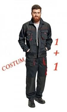 Pantaloni de lucru si jacheta negru si portocaliu