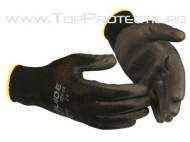 Manusi protectie mecanici montatori PU negre Guide526