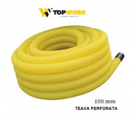 Teavă de drenaj galbena PVC 100mm 50m