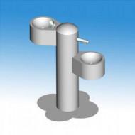 Cismea de baut apa cu doua brate pentru adulti si copii cu buton de actionare fara racire