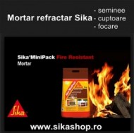 Mortar refractar Sika Monotop-100 rezistent la foc pentru seminee, focare, cuptoare