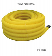 Teavă de drenaj galbena PVC 90 mm 50m