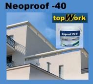 Membrana lichida hidroizolatii pentru acoperis tip terasa TopWork Neoproof-40 Galeata 13kg