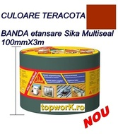 Banda hidroizolatoare Sika Multiseal teracot 10cmX3 m