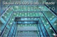 Silicon sticla metal fatade Sikasil WS 605 S alb ambalaj 600 ml