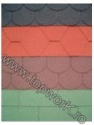 Sindrila bituminoasa SELECT SHINGLE hexagon - rosu