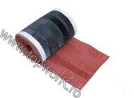 Banda de ventilatie de aluminiu perforata ROLL-O-MAT 280 - rosu