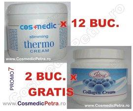 Poze PROMO7 - Crema THERMO Anticelulitica Cosmedic (12 buc.) si Crema COLAGEN ( 2 buc. GRATIS)