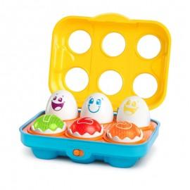 Bright Starts – 52125 Jucarie Put n Shake Eggs – Giggling Gourmet