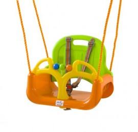 Leagan transformabil 3 in 1 (cu centuri de siguranta) Green Orange - BabyGo