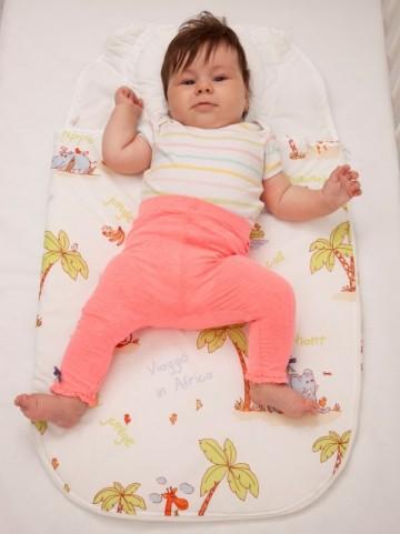 Sac de dormit bebe cu pernuta pt formarea capului BEBEDECO 0-6 luni JUNGLE -cod SNNP21