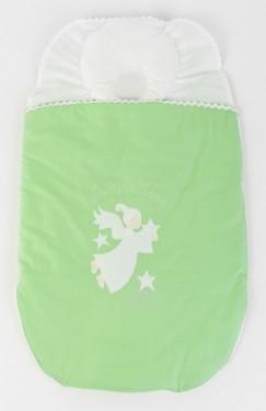 Sac dormit bebe 3-6 luni BEBEDECO cu perna pt formarea capului SOMN USOR verde- cod SBNNSU04m