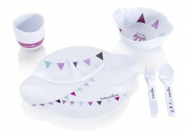 Babymoov – A005505 – Set complet pentru hranire Party Lunch roz