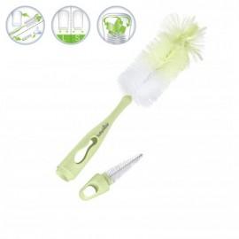 Babymoov – A006003 Perie 2 in 1 pentru curatarea biberoanelor Verde