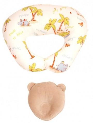 Perna pentru alaptat Bebedeco Jungle + Perna pentru cap bebe