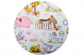 Lenjerie patut copii 5 piese BEBEDECO Ferma Animalelor - cod LI5P17