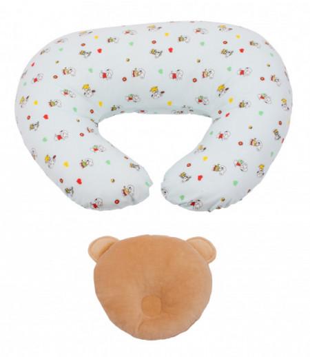 Perna pentru alaptat Bebedeco Snoopy + Perna pentru cap bebe