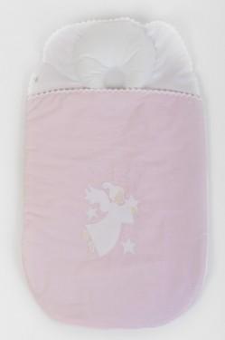 Sac dormit bebe 3-6 luni BEBEDECO cu perna pt formarea capului SOMN USOR roz- SBNNSU05m