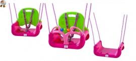 Leagan transformabil 3 in 1 (cu centuri de siguranta) Pink Green - BabyGo