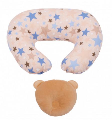 Perna pentru alaptat Bebedeco Summer Nights + perna cap bebe
