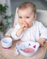 Babymoov – A005507 – Set complet pentru hranire Lovely Lunch roz