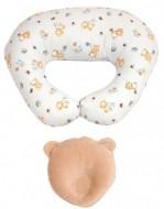 PACHET PROMO Perna pentru alaptat Butterflies+ Perna bebe pentru formarea capului bej