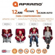 Apramo – Scaun auto Rotativ, 4 in 1 ONE, 0-36 kg Liverpool Red