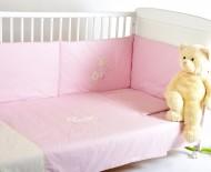 Set aparatoare laterale pentru patut BEBEDECO Iepurasul somnoros roz - cod ABP02