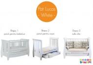 Tutti Bambini – Set patut + salteluta pentru bebelusi Lucas White