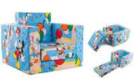 Fotoliu extensibil pentru copii din burete MICKEY MOUSE SI PRIETENII LUI - cod FBEX08