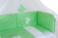 Set aparatoare laterale pentru patut BEBEDECO Somn Usor verde alb - cod ABP13