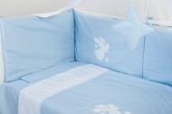Set aparatoare laterale pentru patut BEBEDECO Somn Usor bleu alb- cod ABP14