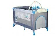 Babygo-Bgo-4404-Patut Pliant Cu 2 Nivele Sleepwell Blue