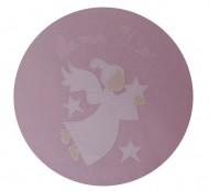 Lenjerie patut BEBEDECO 5 piese cu broderie SOMN USOR roz alb -cod LB5P01