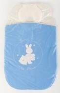 Sac dormit bebe 0-3 luni cu perna pt formarea capului BEBEDECO IEPURASUL SOMNOROS bleu- cod SBNN01s