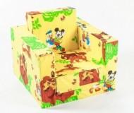 Fotoliu pentru bebelusi din burete neextensibil BEBEDECO LION KING galben- cod FB02 - 2 marimi
