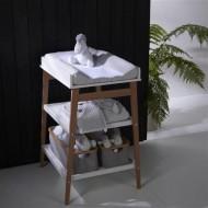 Quax – Masa de infasat Hip White/ Natural
