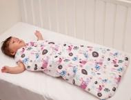 Sac de dormit copii 6-12 luni BEBEDECO cu dubla deschidere BUTTERFLIES - cod SI2480