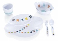 Babymoov – A005504 – Set complet pentru hranire Party Lunch albastru