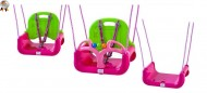Leagan transformabil 3 in 1 (cu centuri de siguranta) Pink Green - BabyGo