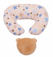 PACHET PROMO Perna pentru alaptat Summer Nights+ Perna bebe pentru formarea capului bej