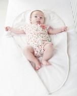 Sac de dormit bebe 3-6 luni BEBEDECO cu perna pt formarea capului SOMN USOR bleu- cod SBNNSU06m