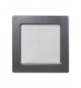 Grila de ventilatie metalica-negru-grafit/220 x 220