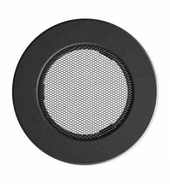 Grila de ventilatie metalica-negru-grafit D150, D125